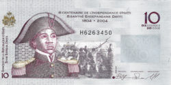10 гурд — 200 лет Независимости Гаити
