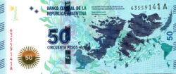 50 песо — Защита Мальвинских Островов
