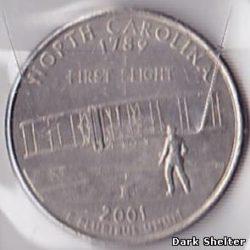 ¼ доллара — штат Северная Каролина