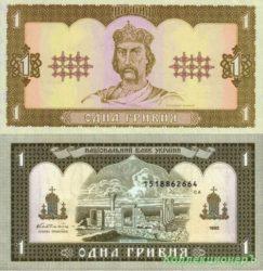Эволюция банкноты 1 гривна