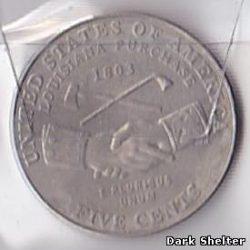 5 цент — 200 лет экспедиции Льюиса и Кларка — Приобретение Луизианы