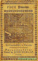 Первые бумажные деньги в Северной Америке