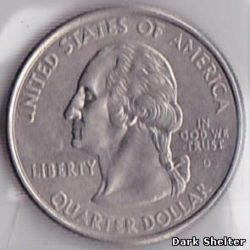 ¼ доллара — штат Вайоминг