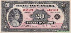 Канада, 20 долларов, 1935 года